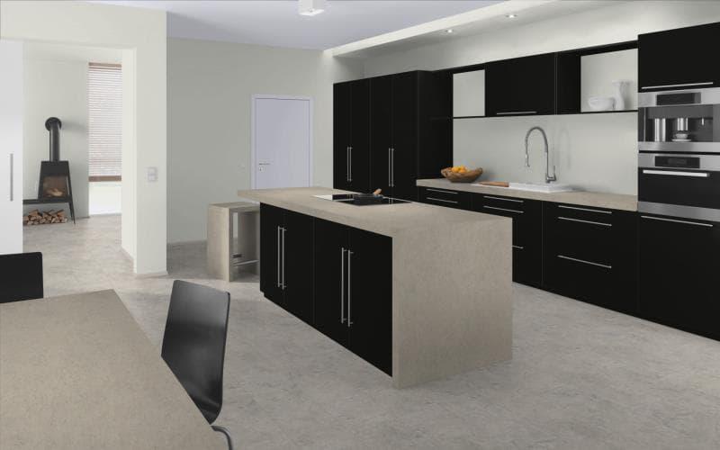 Elite made to measure kitchen doors for Matt black kitchen doors