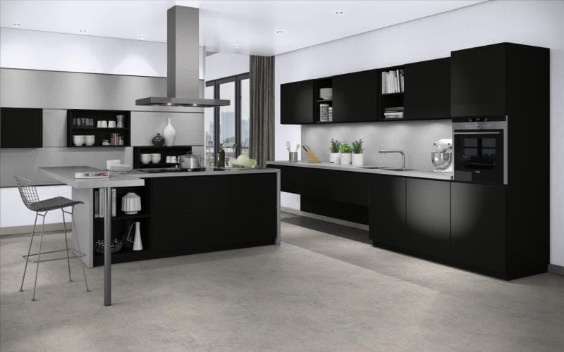 Treviso kitchen doors for Matt black kitchen doors