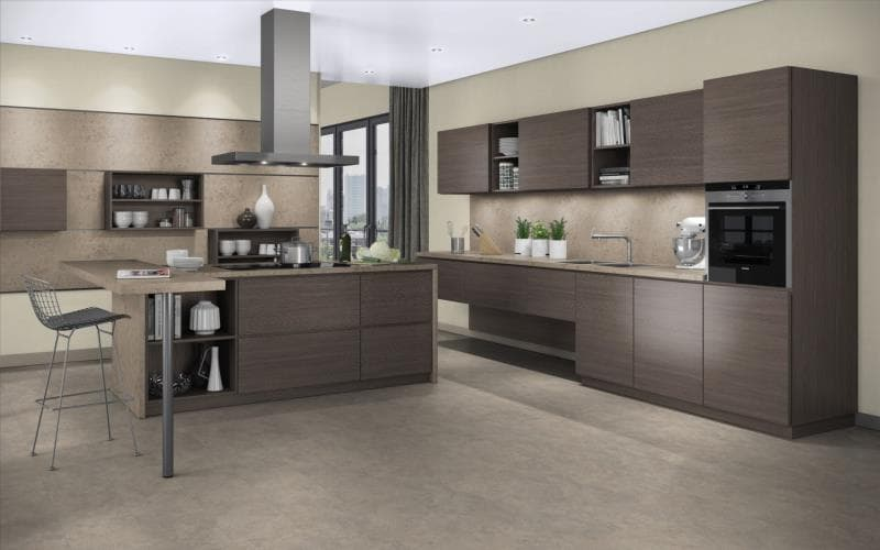 Treviso kitchen doors for Grey and brown kitchen